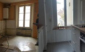 Avant et après rénovation de cuisine Haguenau